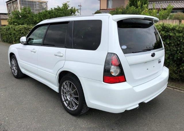 2007 Subaru Forester 2.0 Sg5 Cross Sports Turbo Facelift 4wd Auto Estate (S87), Rear View, Passengers Side. Japanese car imports UK.