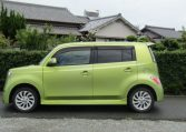 2007 Toyota Bb 1.3 Q Version Auto 5 Dr Hatchback (B38), Side View, Passengers Side. Import Japanese cars uk.