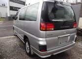 1998 Nissan Elgrand 3.3 E50 Optional 4WD Auto 8 Seater MPV (E87), Rear View, Passengers Side. Japanese car imports UK.