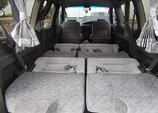 1998 Nissan Elgrand 3.3 E50 Optional 4WD Auto 8 Seater MPV (E87), Interior View Rear Seats Down Made Into A Bed