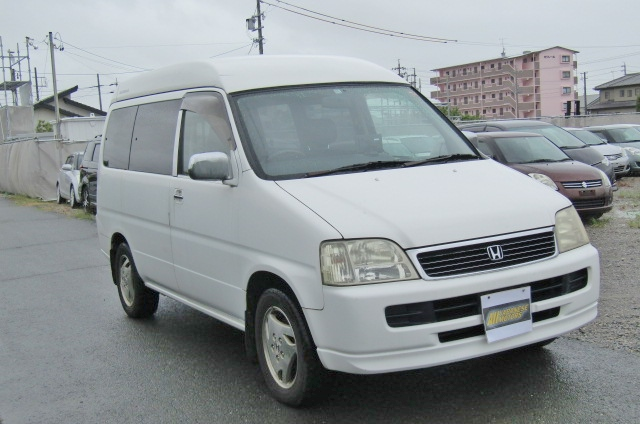 1999 Honda Stepwagon 2.0 Auto Fielddeck Weekender Pop Top 8 Seater MPV (H54), Front View, Drivers Side, Japanese imports.