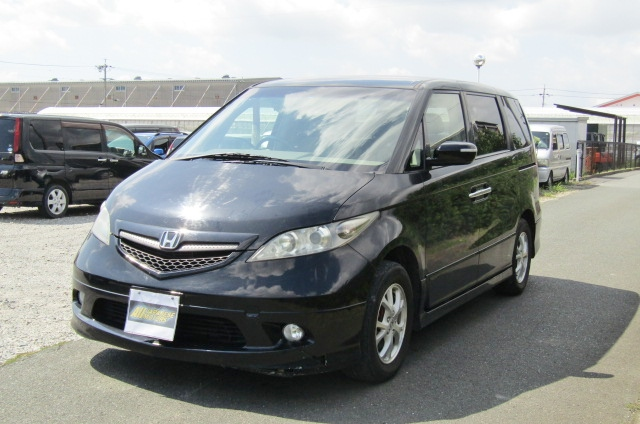 2004 Honda Elysion 3.0 V6 4wd Vg Aero Auto 8 Seater MPV (H9), Front View, Passengers Side, Japanese import cars at All Japanese Motors.