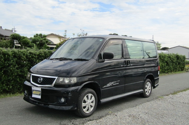 2005 Mazda Bongo 2.0 Aero Friendee Facelift 8 Seater MPV (B7), Front View, Passengers Side. Japanese imports for sale.