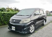 2005 Toyota Alphard 3.0 V6 Facelift Auto 8 Seater MPV (L44), Front View, Passengers Side. Japanese imports for sale.