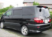 2005 Toyota Alphard 3.0 V6 Facelift Auto 8 Seater MPV (L44), Rear View, Passengers Side. Jap imports UK.