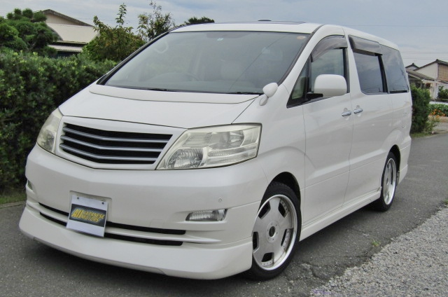 2006 Toyota Alphard 2.4 Ax Ltd Edn Facelift Auto 8 Seater MPV (L64), Front View, Passengers Side. Japanese imports for sale.