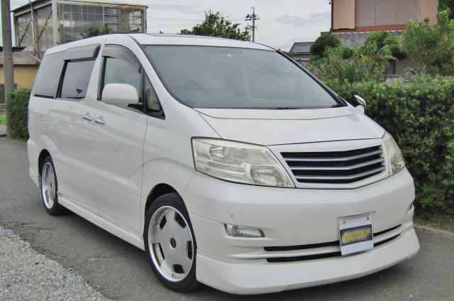 2006 Toyota Alphard 2.4 Ax Ltd Edn Facelift Auto 8 Seater MPV (L64), Front View, Drivers Side. Japanese imports.
