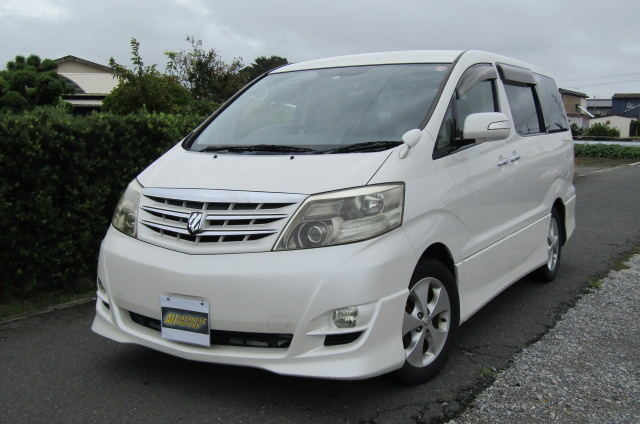 2006 Toyota Alphard 2.4 Ltd Edn Facelift Auto 8 Seater MPV (L95), Front View, Passengers Side. Japanese imports for sale.