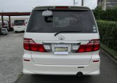 2006 Toyota Alphard 2.4 Ltd Edn Facelift Auto 8 Seater MPV (L95), Rear View. Japanese import cars.