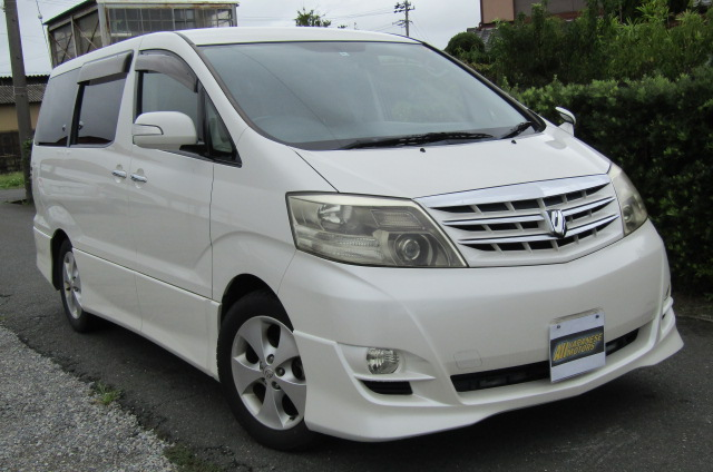 2006 Toyota Alphard 2.4 Ltd Edn Facelift Auto 8 Seater MPV (L95), Front View, Drivers Side. Japanese imports.