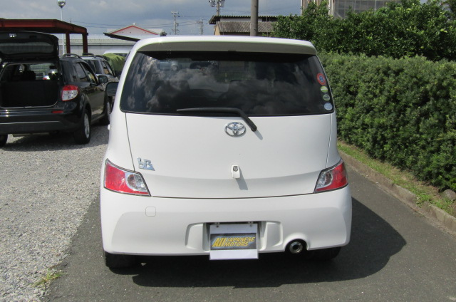 2006 Toyota Bb 1.5 Zq Version 5 Dr Hatchback (B75), Rear View. Japanese import cars.