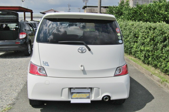 2006 Toyota Bb 1.5 Zq Version 5 Dr Hatchback (B75), Rear View. Japanese imported cars.