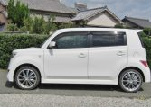 2006 Toyota Bb 1.5 Zq Version 5 Dr Hatchback (B75), Side View, Passengers Side. Import Japanese cars uk.