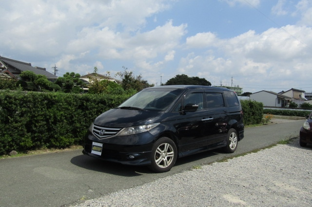 2007 Honda Elysion 3.0 4WD VG Aero Special Pkg Auto 8 Seater MPV (H1), Front View, Passengers Side, Japanese import cars at All Japanese Motors.