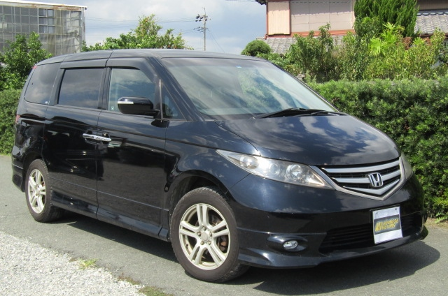 2007 Honda Elysion 3.0 4WD VG Aero Special Pkg Auto 8 Seater MPV (H1), Front View, Drivers Side, Japanese imports by KV Cars.