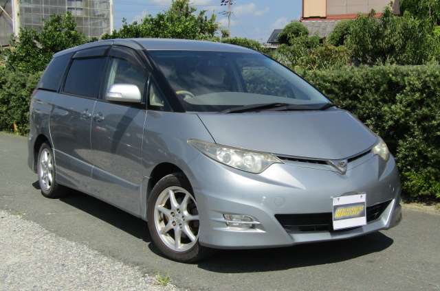 2008 Toyota Estima 2.4 Aeras G Edn 7 Seater MPV (C87), Front View, Drivers Side. Japanese imports.