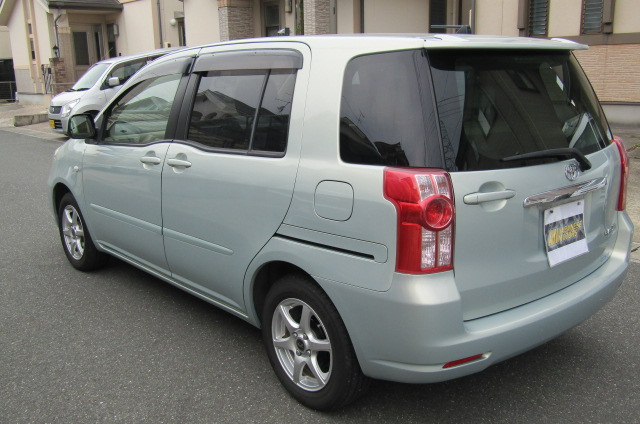 2008 Toyota Raum 1.5 4wd G Pkg 5 Seater Auto 5 DR Hatchback (N79), Rear View, Passengers Side