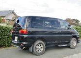 2002 Mitsubishi Delica 3.0 V6 4wd Space Gear Chamonix Auto 7 Seater MPV (R91), Rear View, Drivers Side.