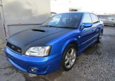 2003 Subaru Legacy 2.0 4wd Auto Ltd Edn B4 Rsk Edn Twin Turbo 4 Dr Saloon (S4), Front View, Passengers Side.