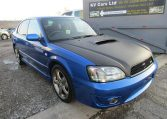 2003 Subaru Legacy 2.0 4wd Auto Ltd Edn B4 Rsk Edn Twin Turbo 4 Dr Saloon (S4), Front View, Drivers Side.