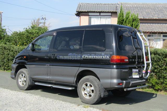 2001 Mitsubishi Delica 3.0 V6 Chamonix 8 Seater MPV (R23), Rear View, Passengers Side.
