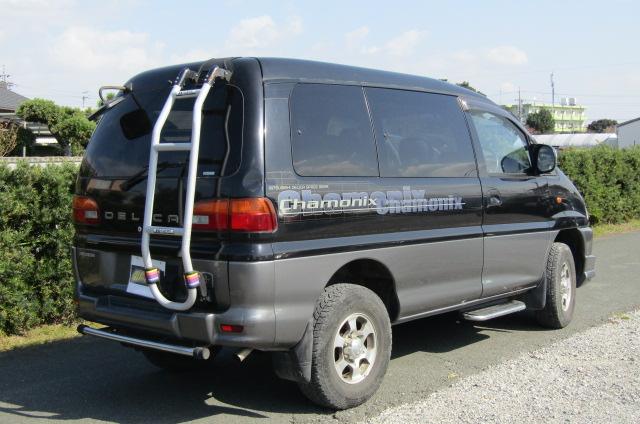 2001 Mitsubishi Delica 3.0 V6 Chamonix 8 Seater MPV (R23), Rear View, Drivers Side.