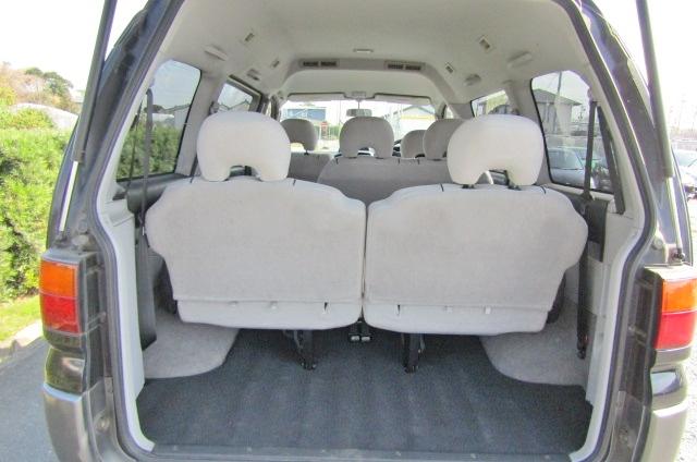 2001 Mitsubishi Delica 3.0 V6 Chamonix 8 Seater MPV (R23), Interior View Rear Seats Down For Storage.
