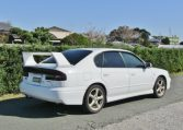 2002 Subaru Legacy 2.0 B4 Twin Turbo Auto Jdm 4wd 4 Dr Saloon (S90), Rear View, Drivers Side.