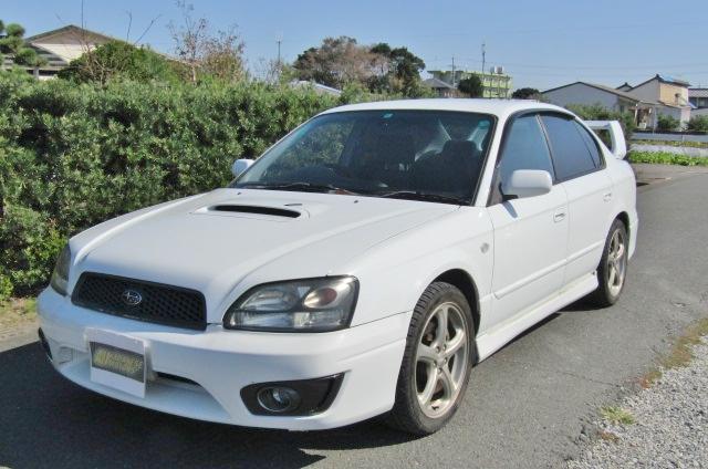 2002 Subaru Legacy 2.0 B4 Twin Turbo Auto Jdm 4wd 4 Dr Saloon (S90), Front View, Passengers Side.