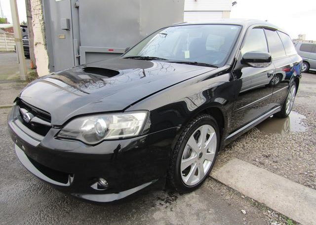 2003 Subaru Legacy 2.0 Bp5 GT Turbo Twinscroll Spec B 4WD Auto Estate (S5), Front View, Passengers Side.