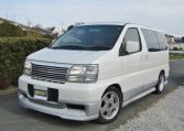 1998 Nissan Elgrand 3.3 Highway Star Auto 8 Seater MPV (E75)1998 Nissan Elgrand 3.3 Highway Star Auto 8 Seater MPV (E75), Front View, Passengers Side.
