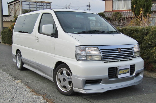 1998 Nissan Elgrand 3.3 Highway Star Auto 8 Seater MPV (E75)1998 Nissan Elgrand 3.3 Highway Star Auto 8 Seater MPV (E75), Front View, Drivers Side.