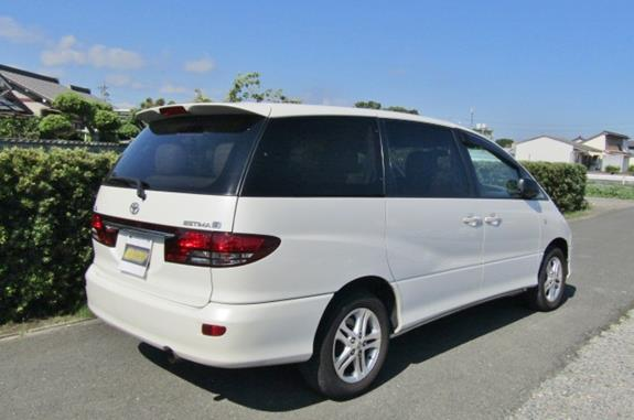 2003 Toyota Estima 3.0 V6 4wd G Auto 7 Seater MPV (M10), Rear View, Drivers Side