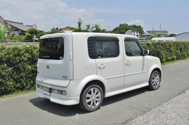 2008 Nissan Cube Rider 1.4 4wd Auto 5 Dr Hatchback (Y48), Rear View, Drivers Side