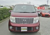 2007 Nissan Elgrand 2.5 Auto Optional 4wd Highway Star 8 Seater MPV (E58), Front View.