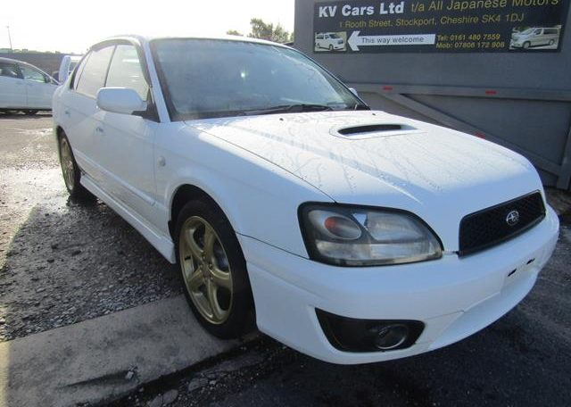 2002 Subaru Legacy 2.0 B4 Twin Turbo Auto Jdm 4wd 4 Dr Saloon (S90), Front View, Drivers Side