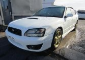 2002 Subaru Legacy 2.0 B4 Twin Turbo Auto Jdm 4wd 4 Dr Saloon (S90), Front View, Passengers Side