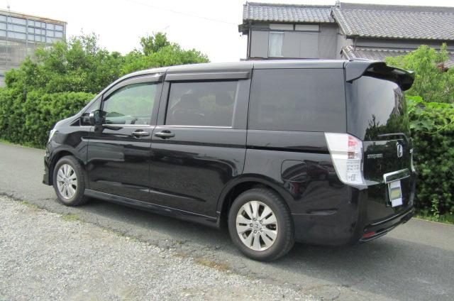 2010 Honda Stepwagon 2.0 Ivtec Spada New Shape Rk5 8 Seater MPV (H45), Rear View, Passengers Side
