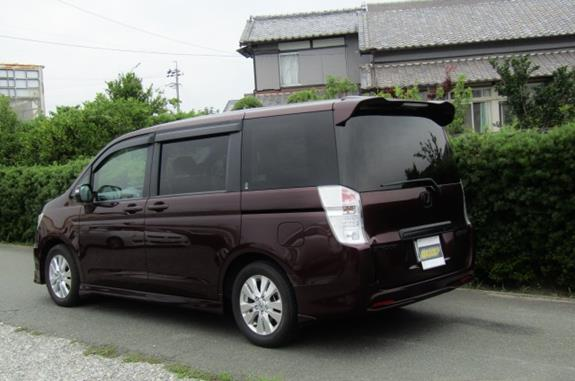 2010 Honda Stepwagon 2.0 Ivtec Auto Spada Rk5 New Shape 8 Seater Mpv (H64), Rear View, Passengers Side.