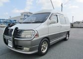 2000 Toyota Grand Hiace 3.4 V6 Hi Roof Lounge 7 Seater MPV Camper (Z8), Front View, Passengers Side
