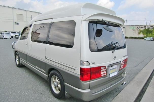2000 Toyota Grand Hiace 3.4 V6 Hi Roof Lounge 7 Seater MPV Camper (Z8), Rear View, Passengers Side