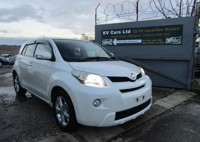 2010 Toyota Ist 1.5 Auto 3 Dr Hatchback (I61), Front View, Drivers Side. Japanese imports.