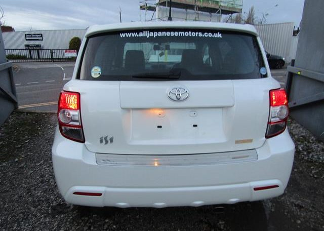2010 Toyota Ist 1.5 Auto 3 Dr Hatchback (I61), Rear View. Japanese import cars.