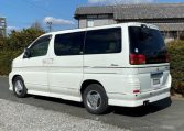 1999 Nissan Elgrand 3.3 V6 E50 Optional 4wd Rider Auto 8 Seater MPV (E12), Rear View, Passengers Side.