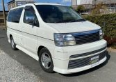 1999 Nissan Elgrand 3.3 V6 E50 Optional 4wd Rider Auto 8 Seater MPV (E12), Front View, Drivers Side.