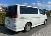 1999 Nissan Elgrand 3.3 V6 E50 Optional 4wd Rider Auto 8 Seater MPV (E12), Rear View, Drivers Side.