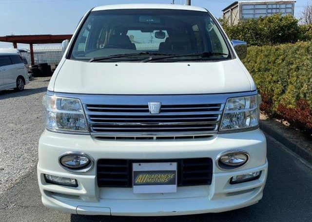 2002 Nissan Elgrand 3.5 V6 E50 Auto Highway Star 8 Seater MPV (E26), Front View 2